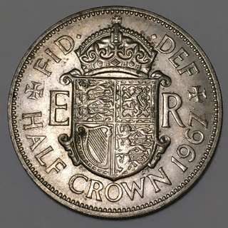 Great Britain Half Crown 1967 Cupronickel Coin
