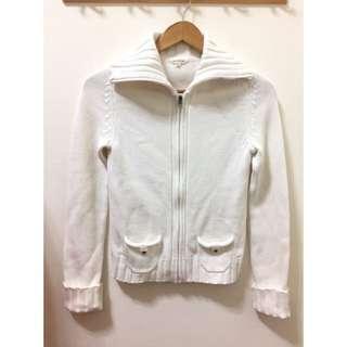🚚 上海專櫃Semir個性高領針織純白外套