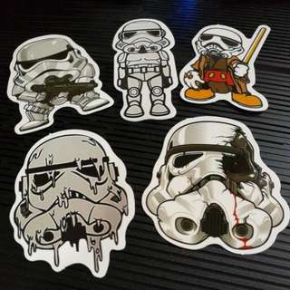 Waterproof Decal Star Wars Stormtroopers Set of 5pcs