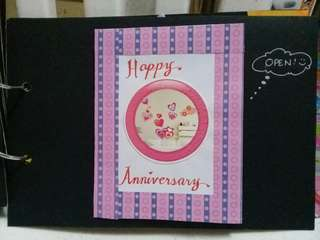 Scrapbooks, explosion box, surprise cards