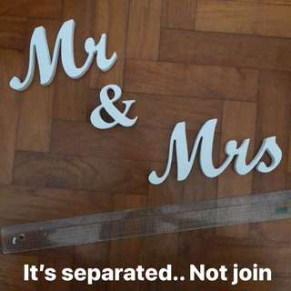 Mr & Mrs Table Wedding Decor