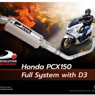 Devil Exhaust Systems Singapore Honda PCX 150 Ready Stock ! Promo ! Do Not PM ! Kindly Call Us ! Kah Cheng Ang Ang !!!!! Huat Ah !!!!!