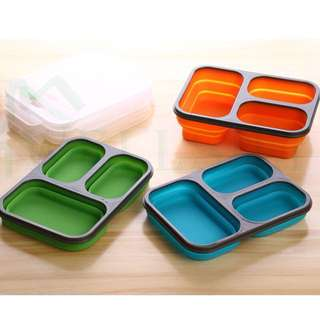 Collapsible/Foldable Silicone Lunch Box
