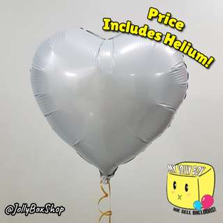 Last Chance to Impress! 18 Inch Balloon Hearts for Sale! White Hearts! Helium Filled Balloons. Less than 10 left! Call 98573128 to Confirm.