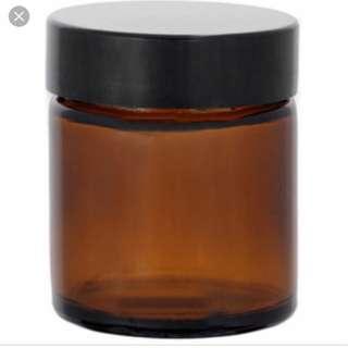 120pc of amber 60ml glass jar