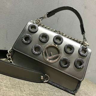 Fendi Holes Premium Bag (Grey)