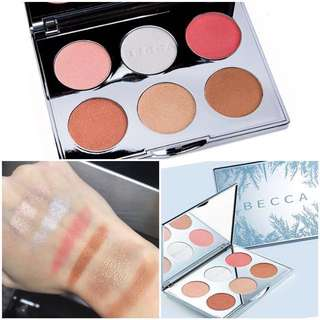 💯BECCA Face Total Pallete ( 3highlighters, 2 blush-on& 1 bronzer) Valued 6k!!! Repriced!