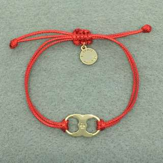 Tory Burch Sample Bracelet 紅色配金色情侶手繩手帶手鏈
