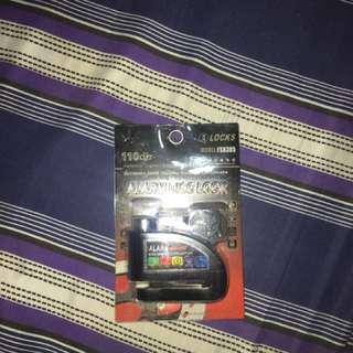 Disc lock with alarm (black)