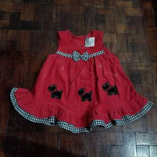 Red baby dress for 12mths