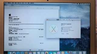 MacBook Air 13inch 99.9%新@2016/10/29出機