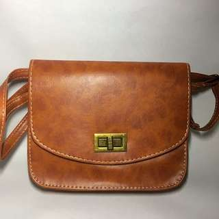 Brown Bag with Gold Buckle (Restocked)
