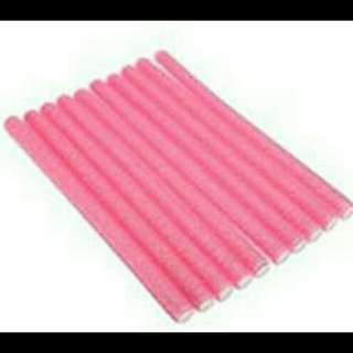 10 Pcs. Pink Hair Curlers