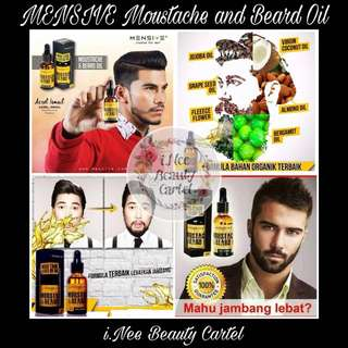 🎀 MENSIVE MOUSTACHE AND BEARD OIL 🎀