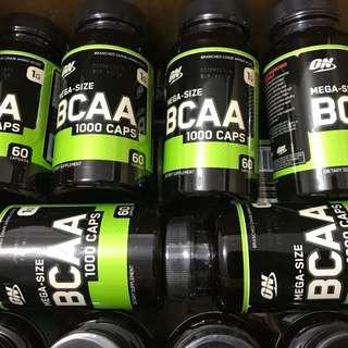 BCAA 支鏈氨酸 增加肌肉蛋白質 1000mg amino acid supplement muscle recovery 60粒裝