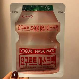 益力多yogurt mask