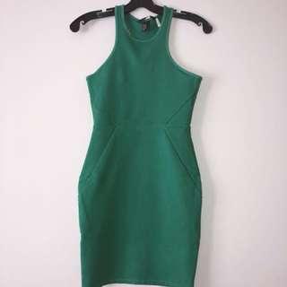 Green racerback dress (H&M XS)