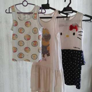 3yrs H&M girl dresses and top