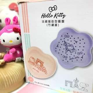 🚚 全新 交換 賣 7-11 Hello Kitty 法國風造型餐盤 竹籤維 餐盤 餐碗