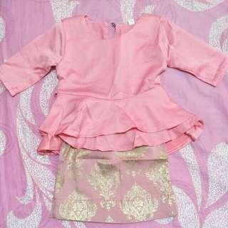 Baby Baju Kurung Peplum