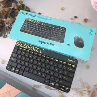 Logitech Wireless Keyboard & Mouse 無線鏈盤連滑鼠 全新 新年前交收平$10