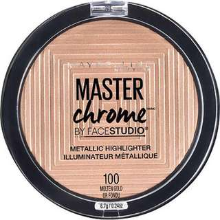 (( SOLD OUT )) Maybelline Master Chrome Metallic Highlighter in Molten Gold
