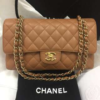 Authentic Chanel medium caviar double flap