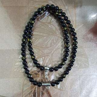Onyx Necklace for Amulet