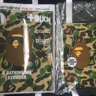 Bathing Ape, touch mag (glasses/hp hook on pouch)