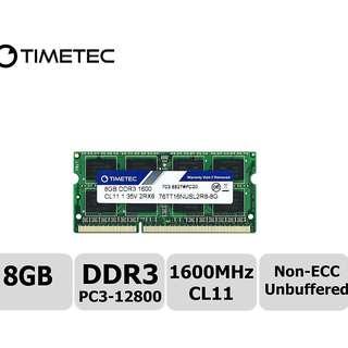 (BN Lifetime Warranty) Timetec Hynix 8GB DDR3 1600 (laptop)