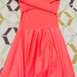 Kim Cross Pastel Peach Dress