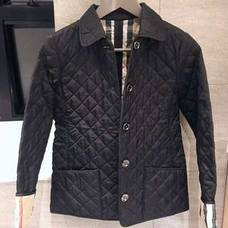 💕Burberry children quilted nova black jacket size 12