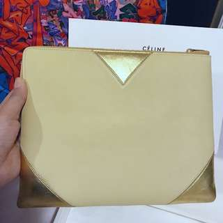 💝Celine beige and gold clutch 💕