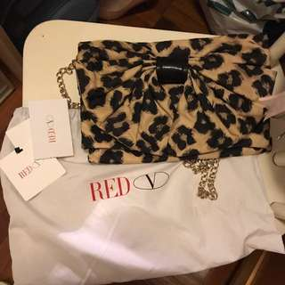Red Valentino Clutch With Chain