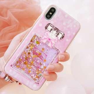 粉紅系列 EVERY LITTLE PINK iPhonex /iPhone 6/7/8/6 PLUS/7 PLUS/8 PLUS Samsung S8/S8 PLUS手機殼 矽膠套 液體流沙 防摔軟殼(包鋼化保護貼)