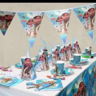 Instock Moana party items and wall deco pm me For Details