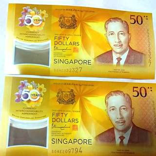 Cia sg 50 brunei commemorative note