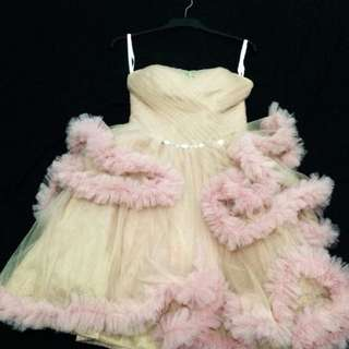 Dusty pink mini gown