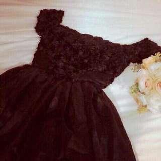 Mini black gown