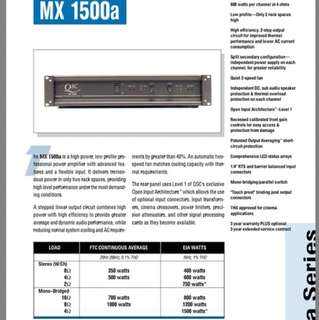 Professional Amp QSC MX1500A