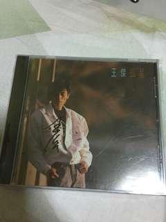 王杰 亲笔签名 孤星CD