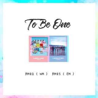 Preorder - Wanna One To Be One
