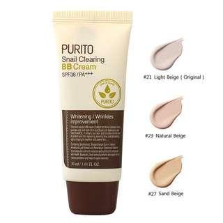 Purito Korean snail bb cream whitening foundation
