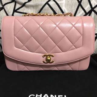 Chanel diana baby pink with 24k gold hardware