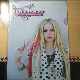 Avril Lavigne The Best Damn Thing A4 folder