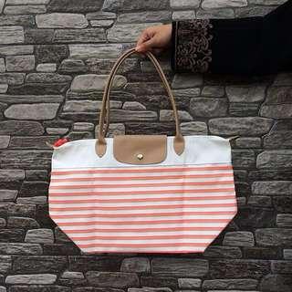 (💯 Original) Longchamp Printed Tote Bag with Long Handle