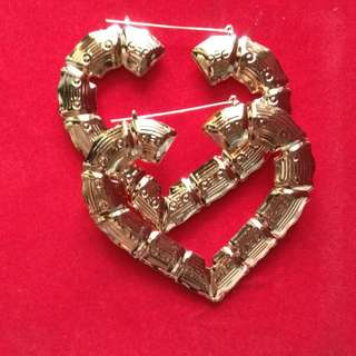 Love dangle large earrings