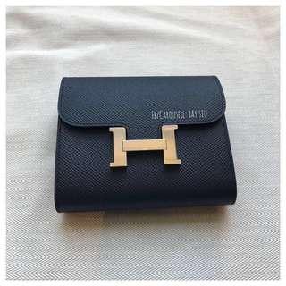 全新 雙拼色 Hermes Constance Short Wallet