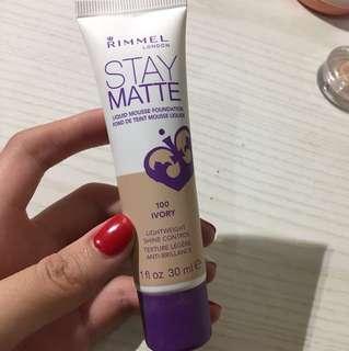 Rimmel Stay Matte Liquid Mousse Foundationa