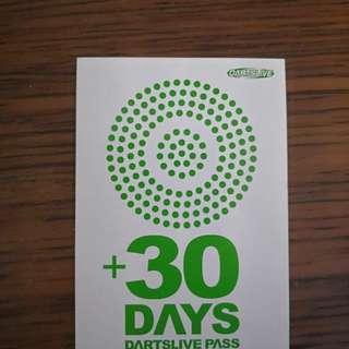 Dartslive 30 days pass